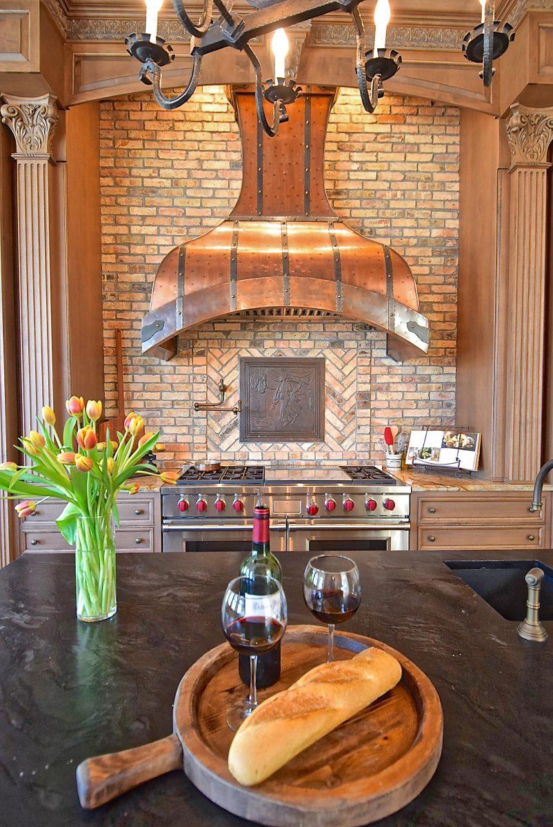 Tall Bettina Range Hood Art Of Hoods Copper Automatic Luxury Kitchen
