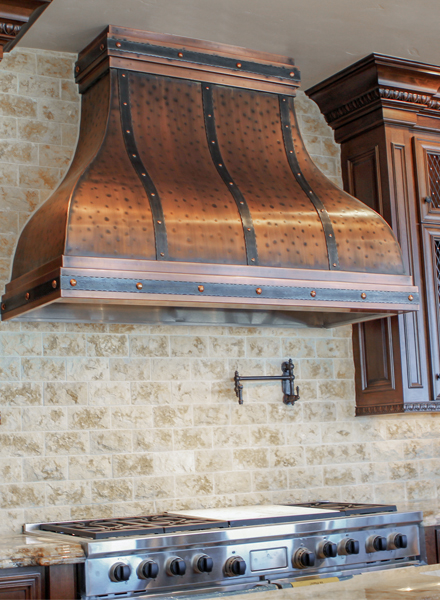 Art of Range Hoods Wide Camellia Range Hood Made to Order